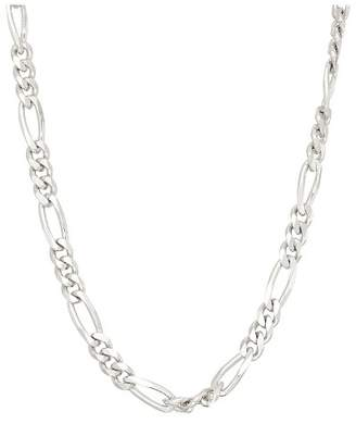 Tiara Sterling Silver Figaro Chain Necklace