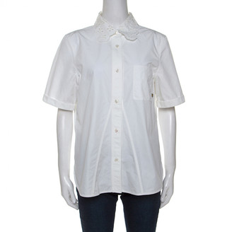 Louis Vuitton White Polyester Tops