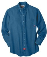 Dickies Men's Big-Tall Long Sleeve Denim Work Shirt