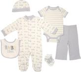 Cutie Pie Baby Gray & White Elephant Footie Set - Infant