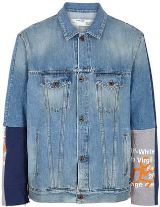 Off-White Off White Blue Panelled Denim Jacket