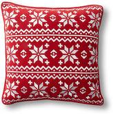 One Kings Lane Fair Isle 18x18 Velvet Pillow, Red