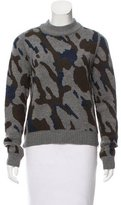 Veronica Beard Camouflage Wool-Blend Sweater