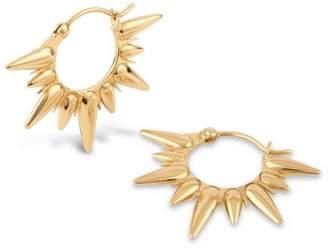 Sunbeam Dinny Hall Gold Vermeil Fanny Half-Sun Hoop Earrings