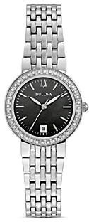 Bulova Classics Diamond Black Mother-of-Pearl Dial Watch, 26mm