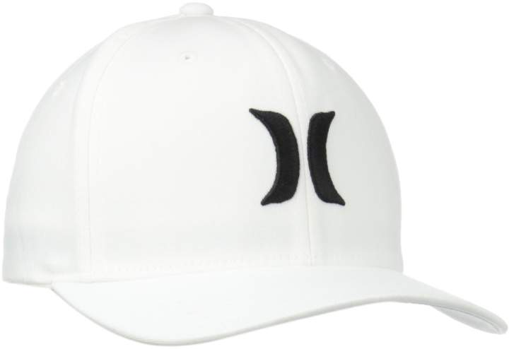 Hurley Men's One and Only Black White Hat
