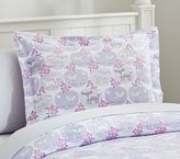 Pottery Barn Kids Friendly Fox Flannel Duvet Cover