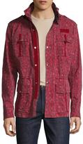 Michael Bastian Cotton Leopard Print Field Jacket