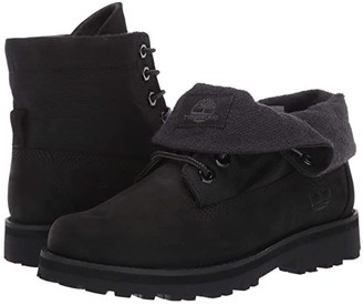 Timberland Kids Courma Roll Top Boot (Big Kid) (Black Nubuck) Kids Shoes