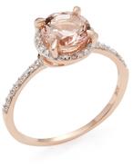 Rina Limor Fine Jewelry Morganite Halo Ring