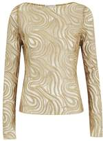 Amanda Wakeley Bedawi Gold Lace Top