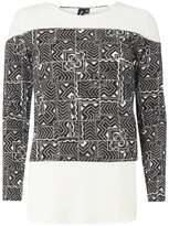 Izabel London ** Black And White Layered Top