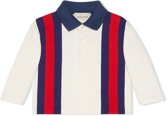 Gucci Kids Baby jersey polo with Web