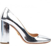 Prada Silver Patent leather Heels