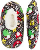 Asstd National Brand Mario Fuzzy Slippers- Boys