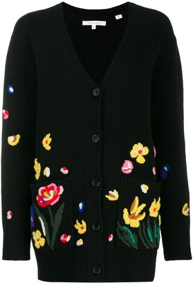 Parker Chinti & embroidered floral cardigan