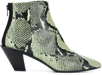 A.F.Vandevorst Snakeskin-Effect Boots