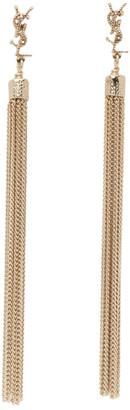 Saint Laurent Gold Loulou Tassel Earrings