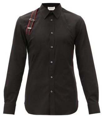 Alexander McQueen Harness Cotton-blend Poplin Shirt - Black