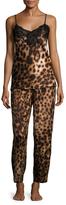 Natori Leopard Print Camisole Pajama Set
