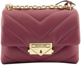 Michael Kors Cece Extra-small Quilted Leather Crossbody Bag Chain Berry