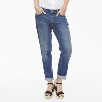 The White Company Brompton Boyfriend Jeans, Indigo, 6