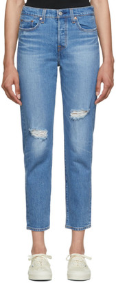 Levi's Levis Blue Wedgie Icon Fit Jeans
