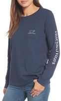 Vineyard Vines Women's Whale Print Long Sleeve Tee