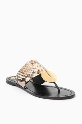 Tory Burch Desert Roccia Snake Patos Disk Sandal