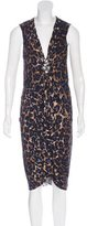 Blumarine Silk Embellished Dress
