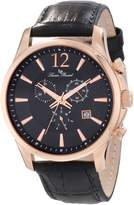 Lucien Piccard Men's 11567-RG-01 Adamello Chronograph Textured Dial Leather Watch