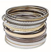 Mixed Metal Stackable Bangles
