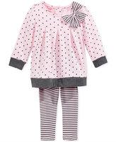 Nannette Baby Girls' 2-Pc. Dot-Print Tunic & Striped Leggings Set