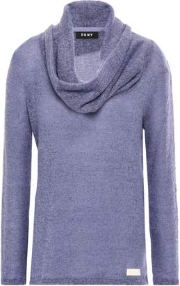 DKNY Draped Marled Knitted Sweater