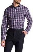Bugatchi Grid Plaid Shaped Fit Woven Shirt