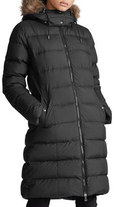 Polo Ralph Lauren Faux-Fur-Trim Down Coat
