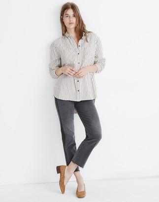 Madewell Flannel Sunday Shirt in Creeland Stripe