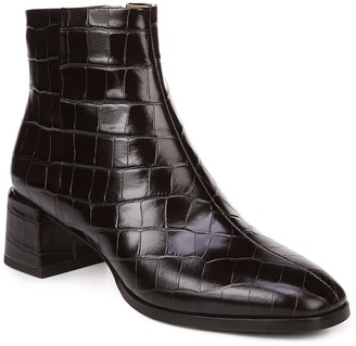 Via Spiga Sahira Embossed Leather Bootie