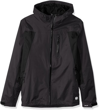 Wrangler Men's Waterproof Zip Front Rain Jacket - Big and Tall