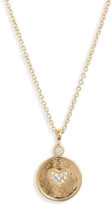 Gorjana Madison Heart Coin Necklace