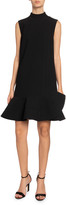 Victoria Victoria Beckham Sleeveless Peplum Hem Dress