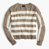 J.Crew Italian featherweight cashmere striped sweater