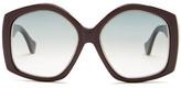 Balenciaga Women&s Geo Oversized Sunglasses