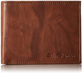 Ben Sherman Men's Manchester Full Grain Cowhide Marble Leather Passcase Wallet