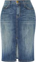 Current/Elliott The Highwaist Pencil denim skirt