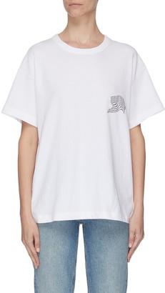 Alexander Wang Warped logo print T-shirt