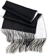 Charles Tyrwhitt Black and White Reversible Silk Scarf