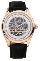 Burton Mens Black Rose Gold Watch