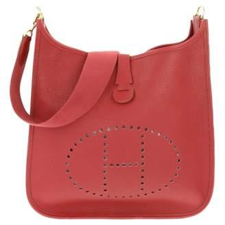 Hermes Evelyne Red Leather Handbags