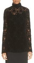 DKNY Women's Long Sleeve Lace Turtleneck